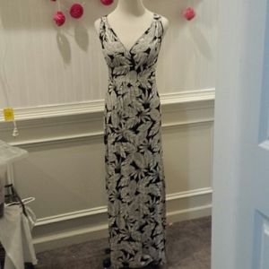 Woman's black and white maxi dress
